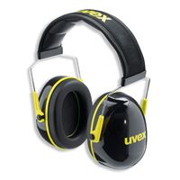 Uvex K2 Earmuffs, 32dB, black-yellow
