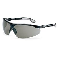 Uvex i-vo Safety Sunglasses, grey lens, black-grey