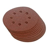 Sanding Hook & Loop Discs, Punched 150 mm, 10pcs - 60 grit