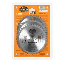 CMT Contractor Set of Saw Blades for Wood Cutting - D160x2,2 d20 Z24+Z40 HW, 3pcs