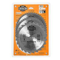 CMT Contractor Set of Saw Blades for Wood Cutting - D216x2,4 d30 Z24+Z48 HW, 3pcs