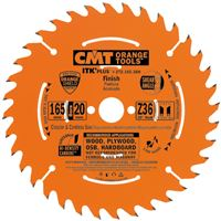 CMT ITK Ultra Thin-Kerf Saw Blade for Cordless - D136x1,5 d20(+10) Z36 HW Crosscut