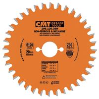 CMT Saw Blade for Laminated Board, Non-ferrous Metal, Plastic - D120x1,8 d20 Z36 HW