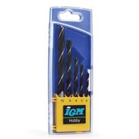 IGM Wood Twist Drill Set 5 pcs - D4-5-6-8-10