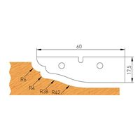 IGM Profile Knife B 60x17,5x2mm pro F632-182