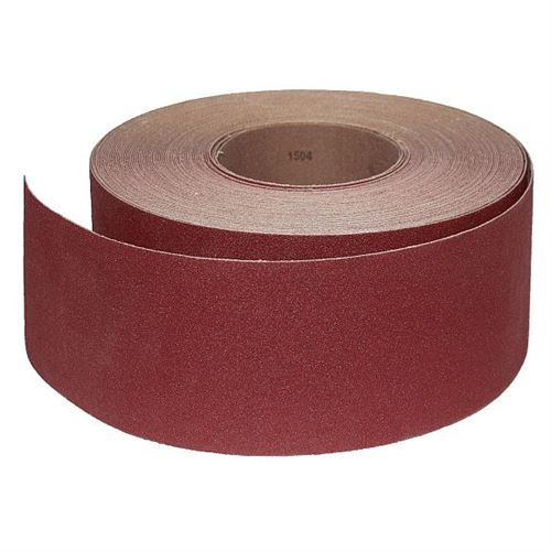 Abrasive Roll Cloth, backed 76 mm x 25 m standard - 180G